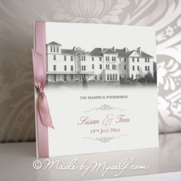 The Belsfield Pocketfold Wedding Invitation - Includes RSVP & Guest Information